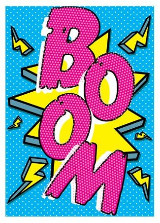 BOOM Pop Art Poster - The Ever Changing House