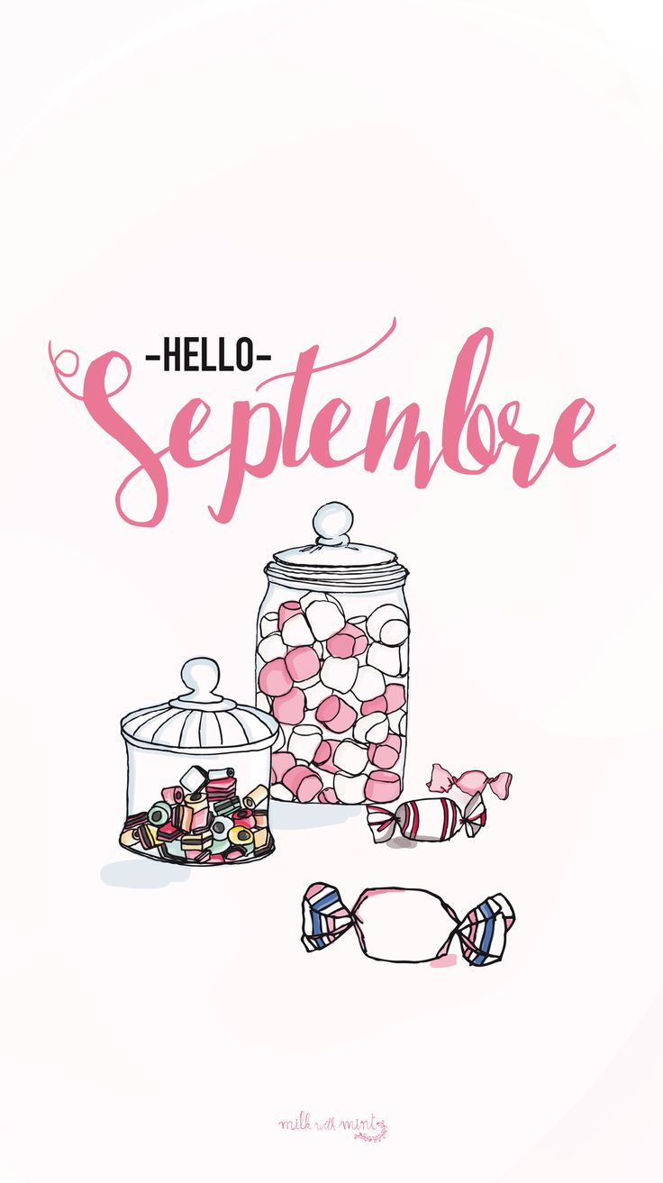 Hello September Candy Sweets iPhone Lock Wallpaper Luna PanPins