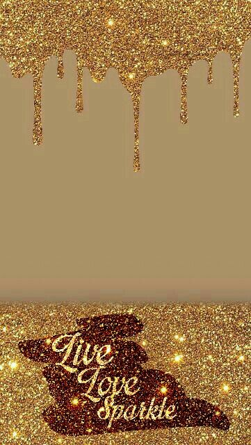 Golden Sparkles Wallpaper Live, Love, Sparkle