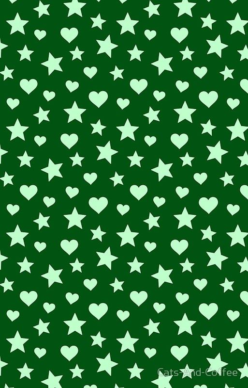 Hearts and Stars - Mint and Green