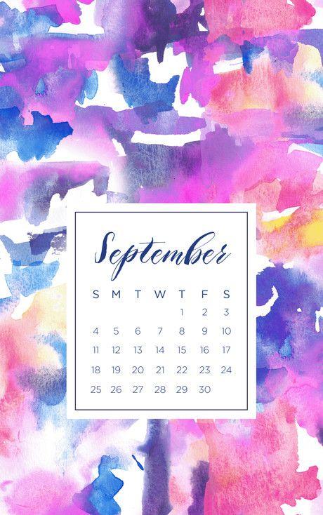 September 2016 iPhone calendar wallpaper