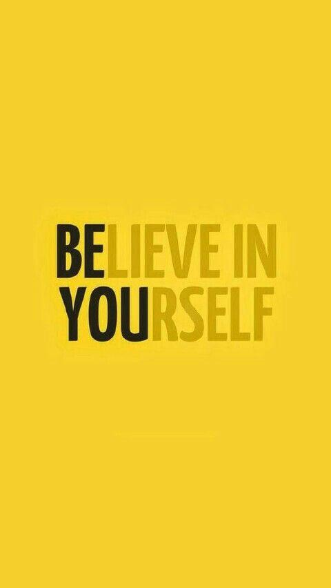 Cree en ti mismo/ sé tú.