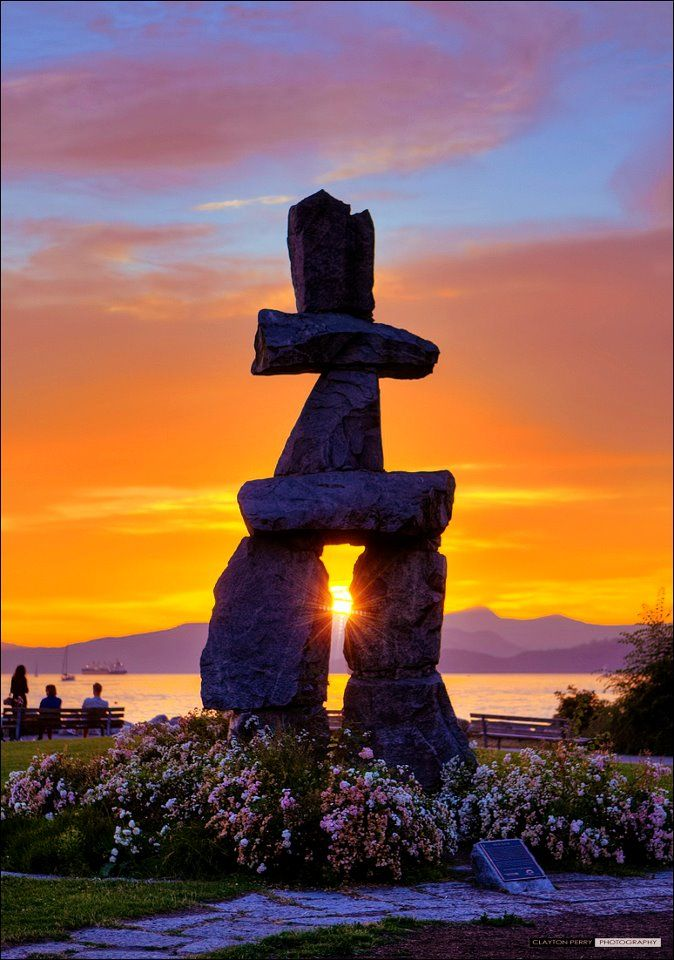 Inukshuk Sunset, English Bay, Vancouver, British Columbia! And, from there, we took the Inland Passage Cruise to Alaska.