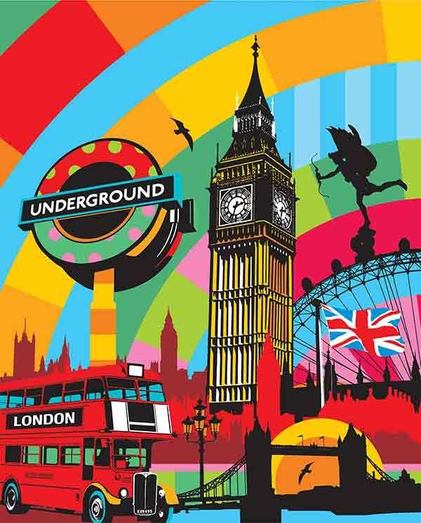 Artwork by Brazilian Artist Lobo, inspire London! #Pop Art #Art Pop #London lobopopart.com.br/en/