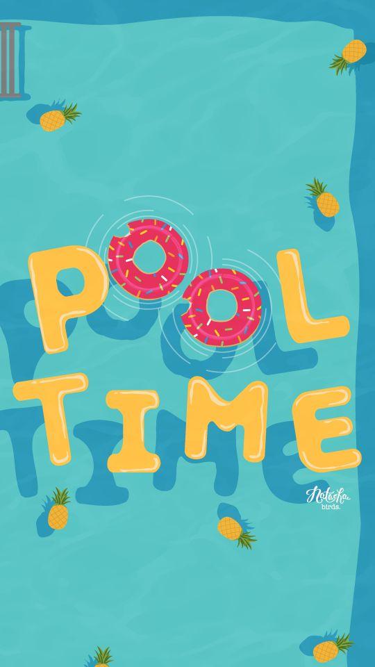 Summer Pool iPhone Lock Wallpaper Luna PanPins