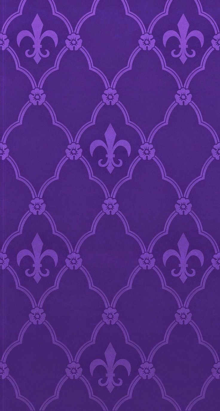 Purple Fleur-de-lis... By Artist Unknown...