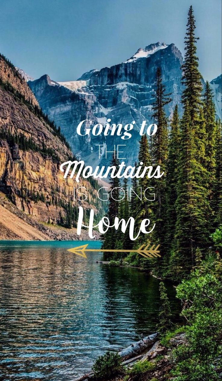 indo para as montanhas vai para casa