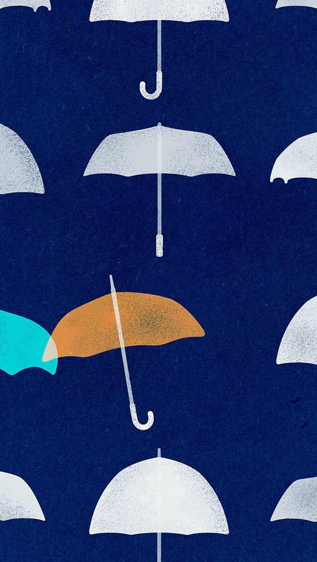 Blue Umbrella Cute Minimal Art Disney #iPhone #5s #wallpaper