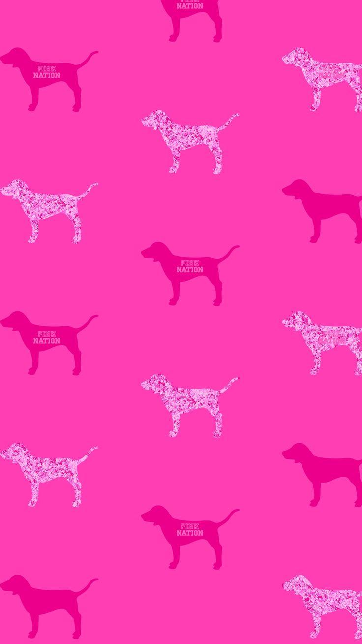 Victoria Secret Pink Vspink dog print wallpaper iPhone background 2018