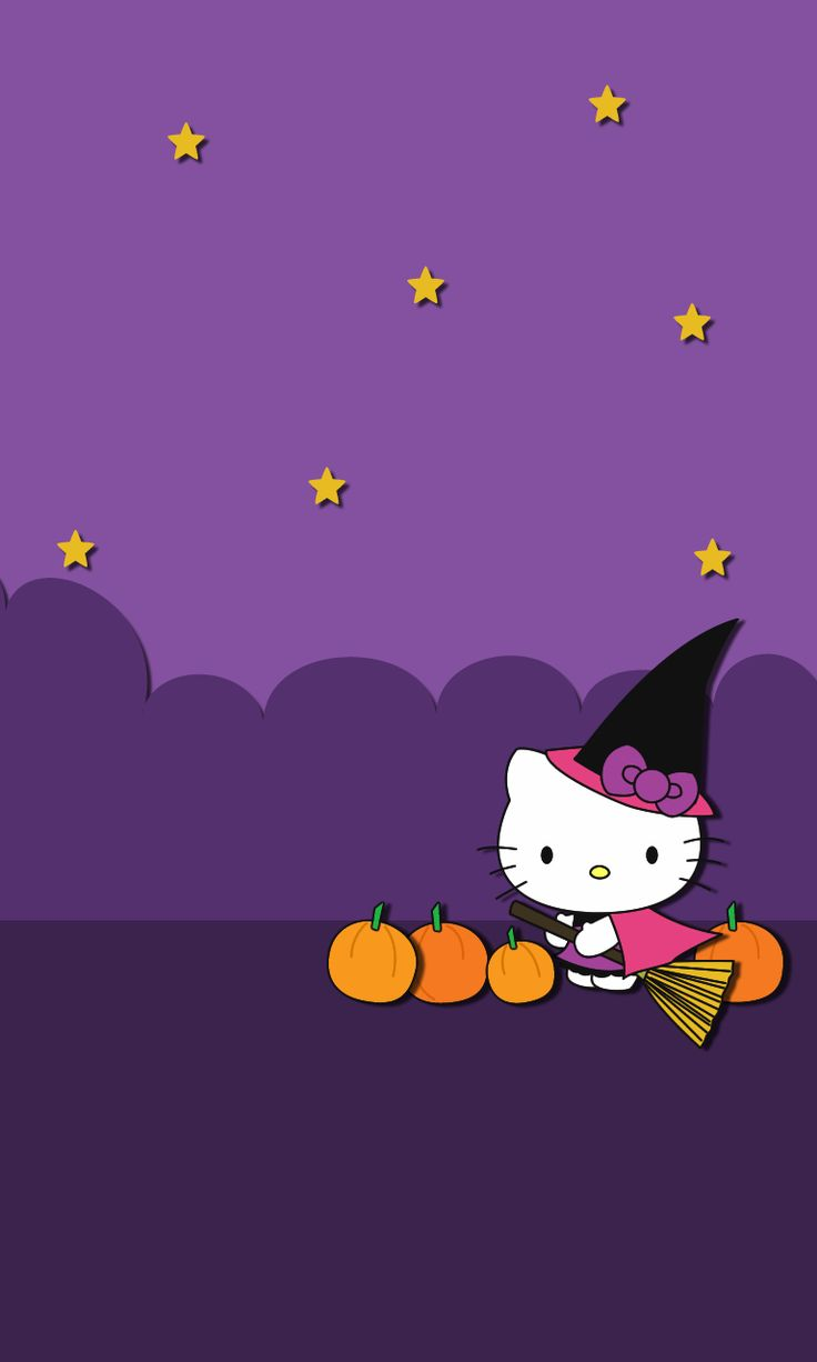 Hello kitty Halloween ★ Find more Autumn & other seasonal wallpapers for your #iPhone + #Android iPhone Wallpapers