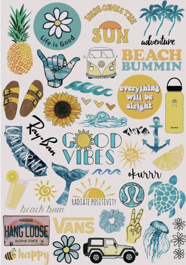 Cute background ideas or stickers for yellow hydro flask or phone case