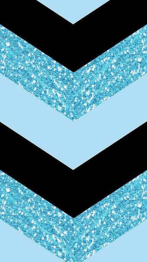 BLUE AND BLACK CHEVRON, IPHONE WALLPAPER BACKGROUND * #GlitterFondos