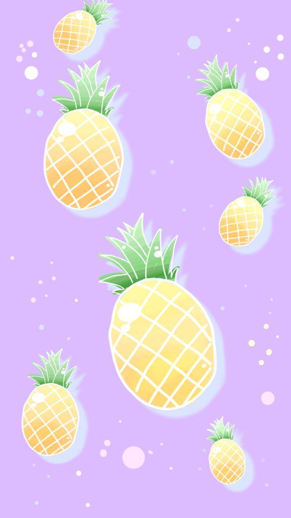 Smartphone und Iphone Wallpaper   Tutti Frutti - Melone, Ananas und Banane