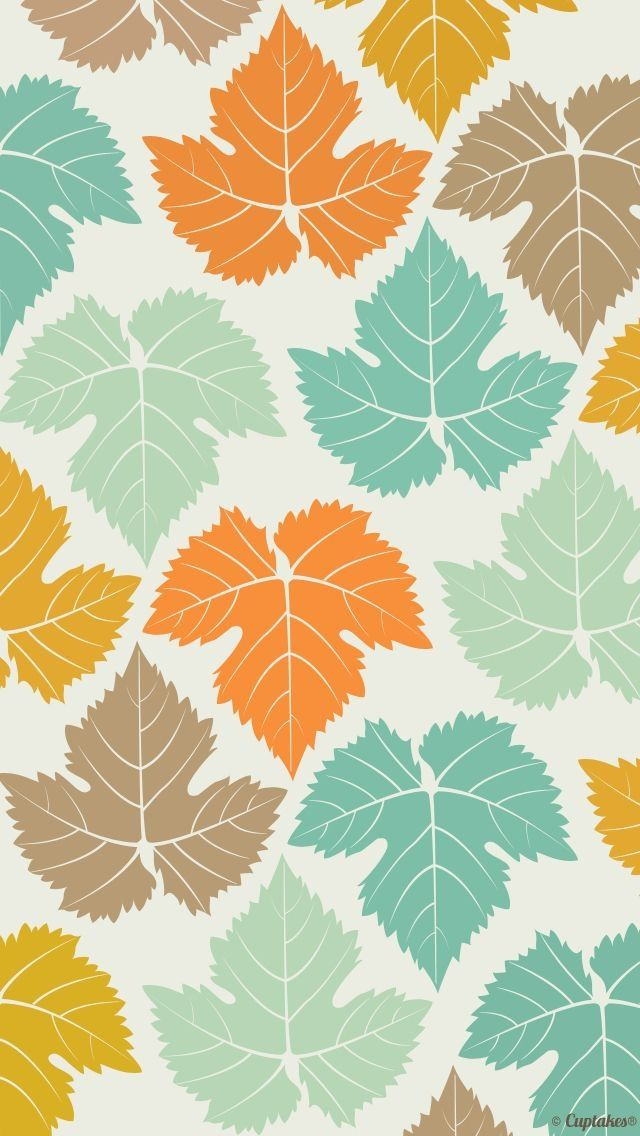Colored Maple Leaves Pattern ★ Find more autumn & other seasonal wallpapers for your #iPhone + #Android iPhone Wallpapers