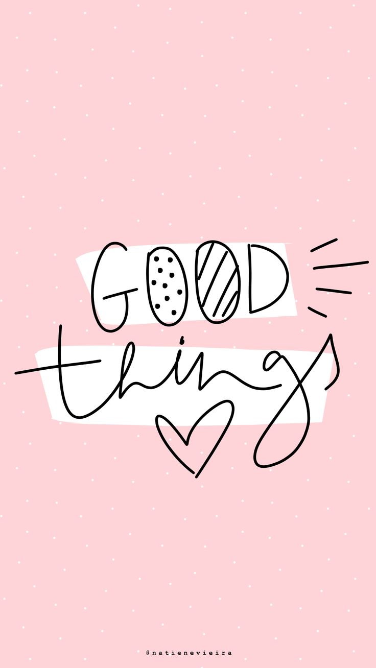 natienevieira • H A N D L E T T E R I N G // GOOD THINGS