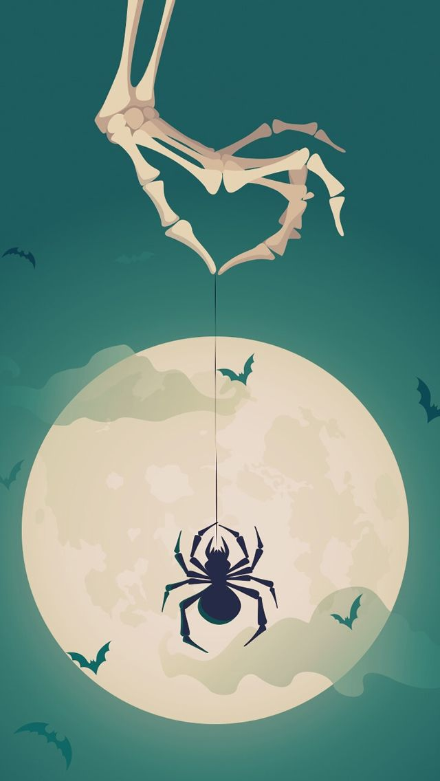 Halloween Spider ★ Find more autumn & other seasonal wallpapers for your #iPhone + #Android iPhone Wallpapers
