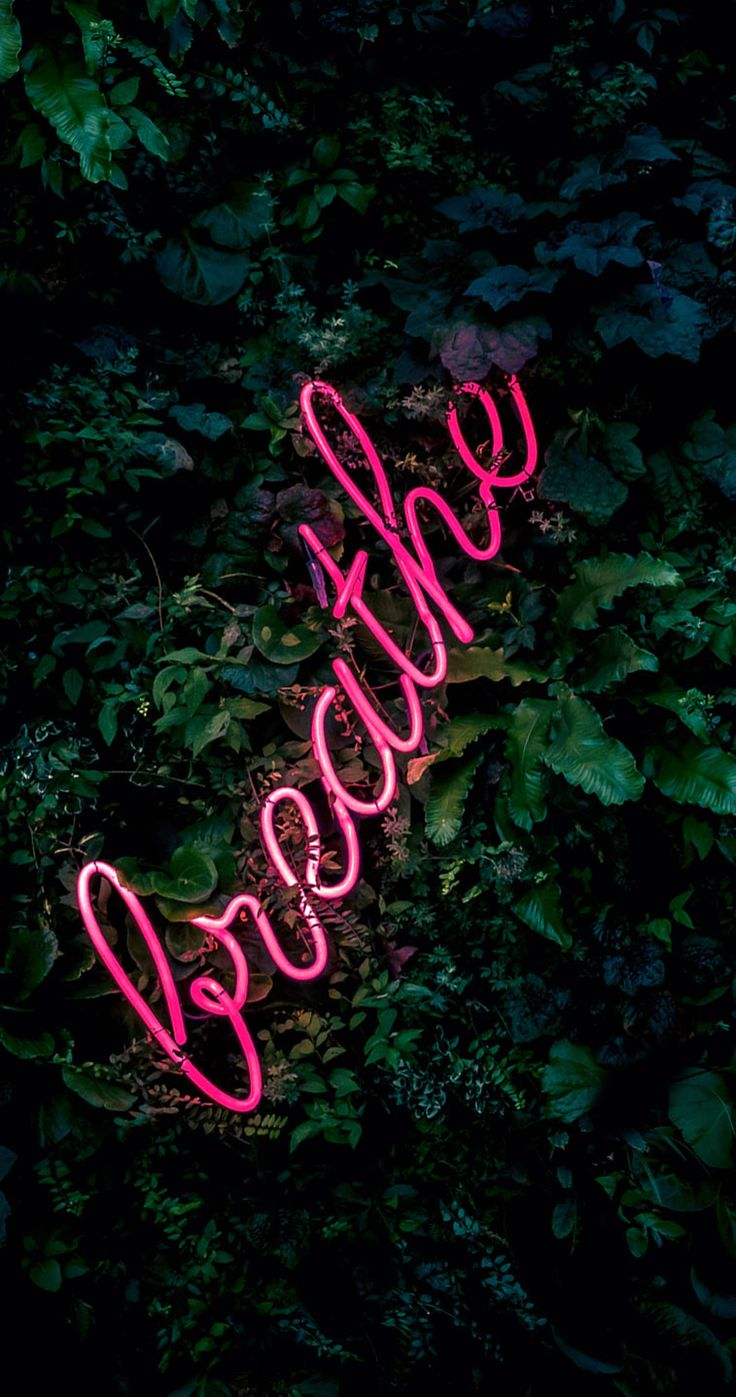Breath neon light iPhone wallpaper - Download the perfect neon sign pictures, iPhone background,iPhone wallpapers, neon light sign wallpaper