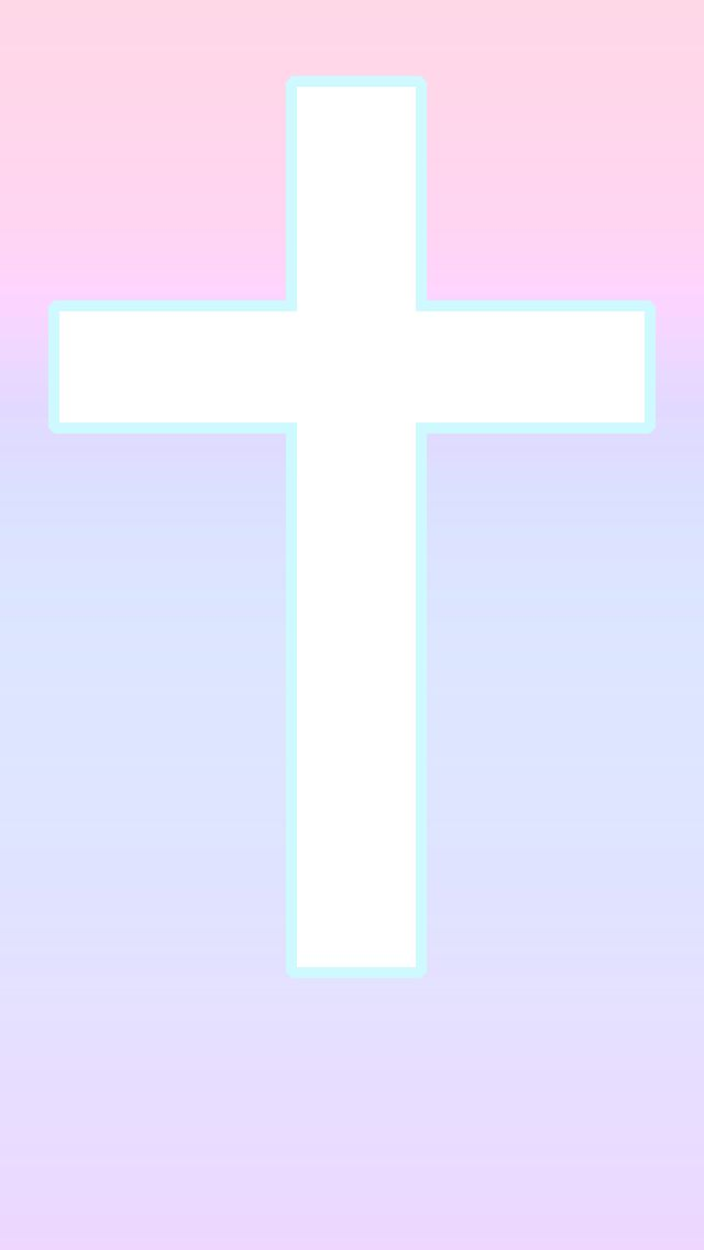 Free for non-commercial use - Cotton Candy Cross iPhone wallpaper by tamagopurin.devia... on @DeviantArt - (my creation ☺)