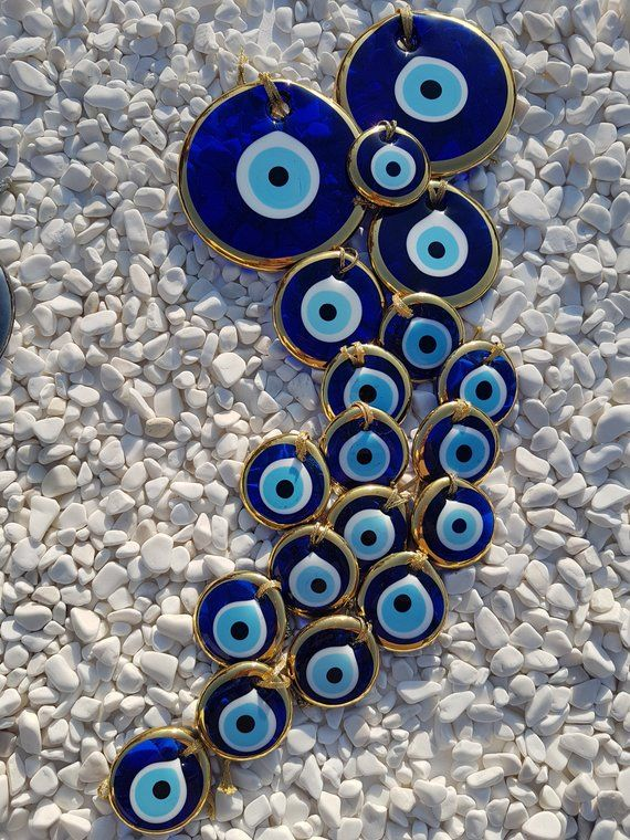 Evil Eye Golden in Many Sizes #EvilEyeWallArt #EvilEyeBabyShower #GreekEye #EvilEyeWallDecor