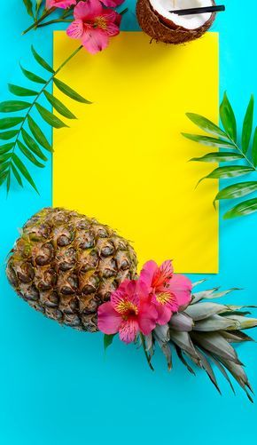 1500x2592 Summer Wallpaper, Iphone Wallpaper, Tropical, Fruit, Wallpapers, Kawaii, Beautiful Backgrounds, Signboards