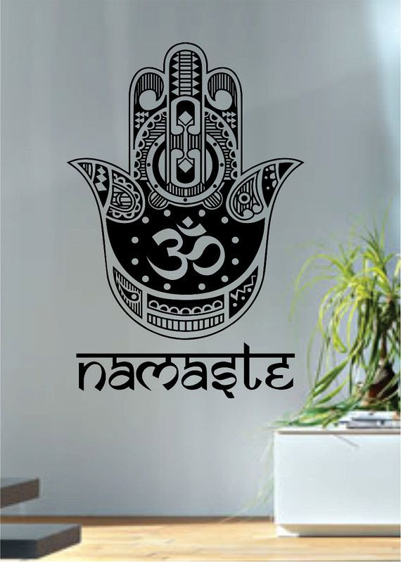 Namaste Hamsa Hand Version 4 Decal Sticker Wall Vinyl
