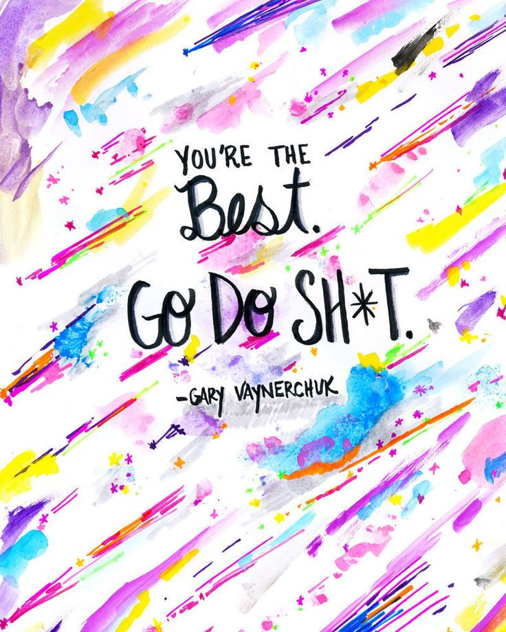 Motivational Quote Art Print | Gary Vaynerchuk Quote Print | Gary Vee Print | Inspirational Quote Print | Hustle Quote Print | Office Art by DaydreamerAlley on Etsy