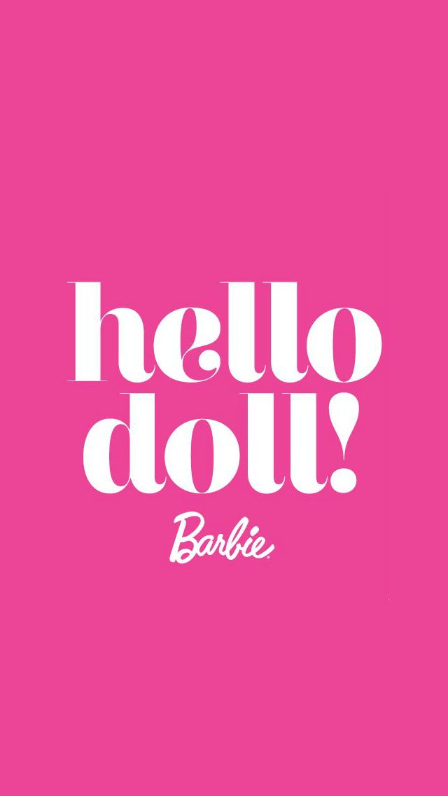 Hello Doll Barbie phone wallpaper