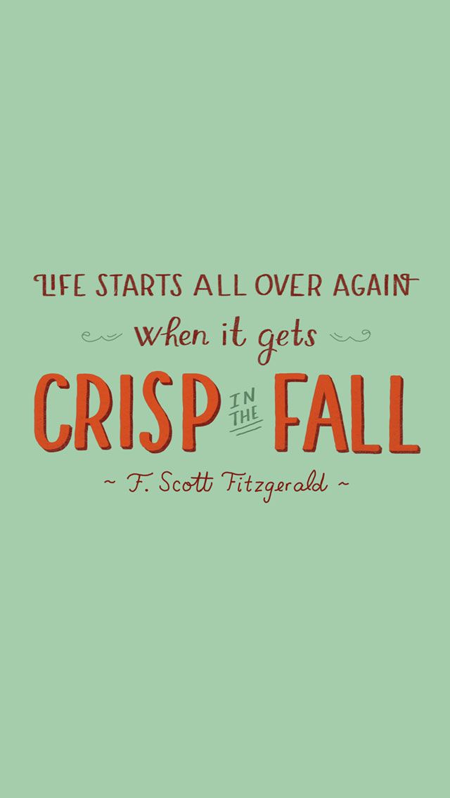 'Fall' Scott Fitzgerald ★ Find more autumn & other seasonal wallpapers for…