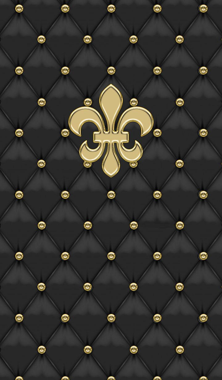 Luxury Theme with a Black Leather Gold... By Artist Unknown...