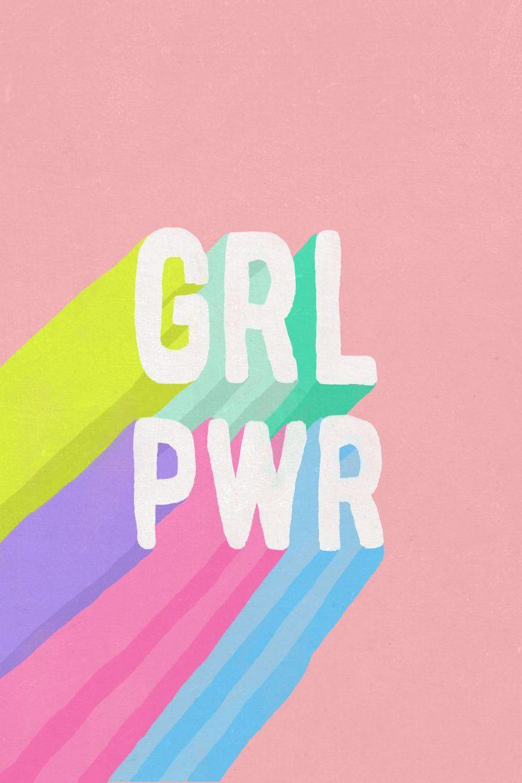 GRL PWR Throw Pillow | Pink Home Decor #pink #grlpwr #girlpower #feminism #feminist