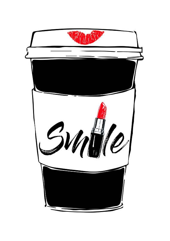 Fashion wall art Download art Starbucks art Art prints Lipstick print Red lipstick printable art Smile decor Digital art Starbucks print This is a digital file of my original artwork ready for instant download. It can be printed on your own computer, by your local print/photoshop, or