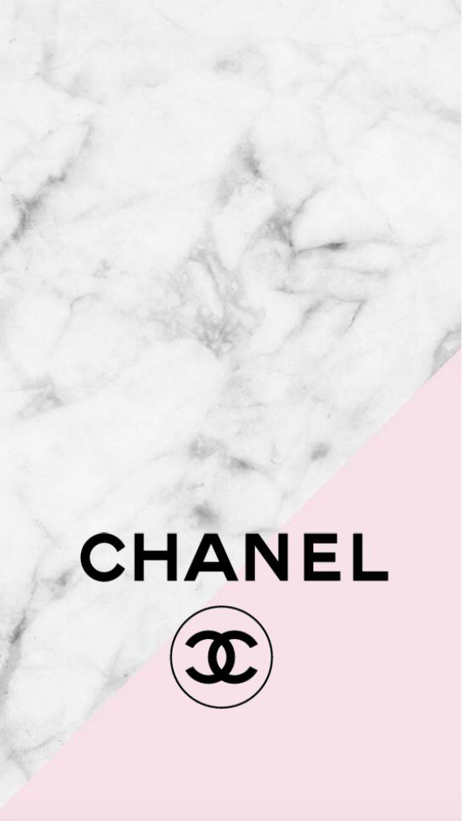 Chanel Logo Pink Marble Iphone Background Wallpapers