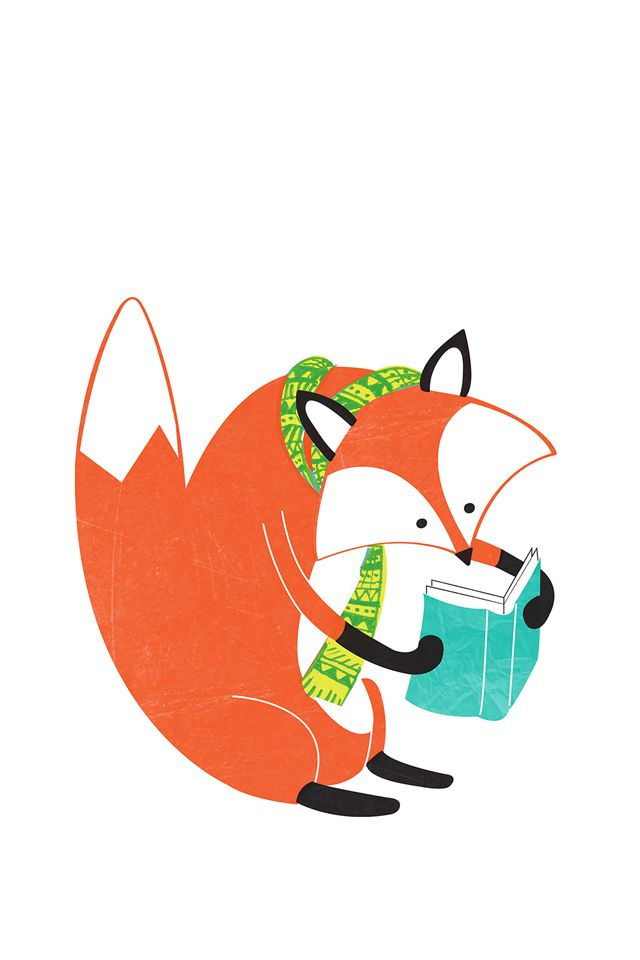 Fox Illustration ★ Find more autumn & other seasonal wallpapers for your #iPhone + #Android iPhone Wallpapers