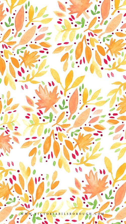 October Floral via www.victoriabilsb... ★ Find more seasonal autumn wallpapers for your #iPhone + #Android iPhone Wallpapers & Cases