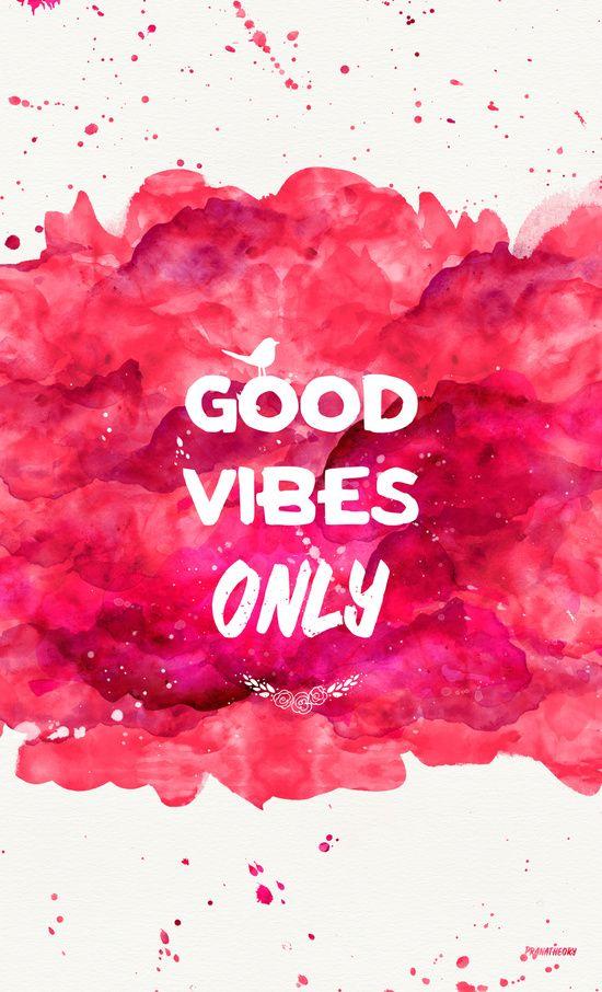 Good Vibes Only HOTLIPS Art Print