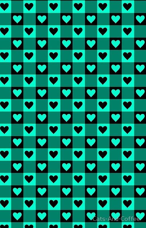 LOVELY GINGHAM - Aqua/Black