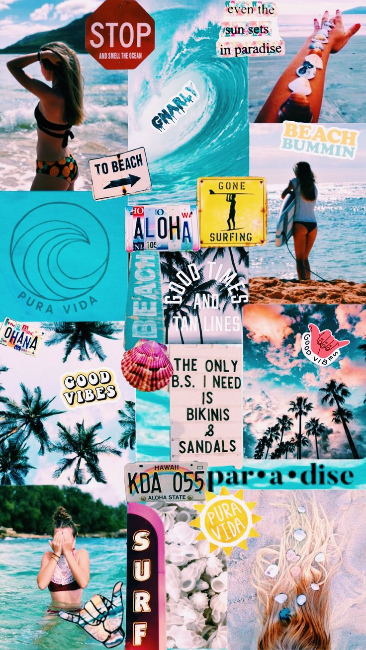 Surfing wallpaper collage🤙🏽vsco-c1, saturation +2, temp. -1☀️ #collage