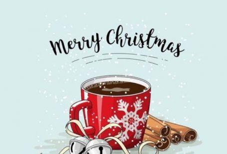 Schöne Bilder zum Nachzeichnen, Tasse Kaffee Zimt und silberne Glöckchen, rote Tasse mit Schneeflocke