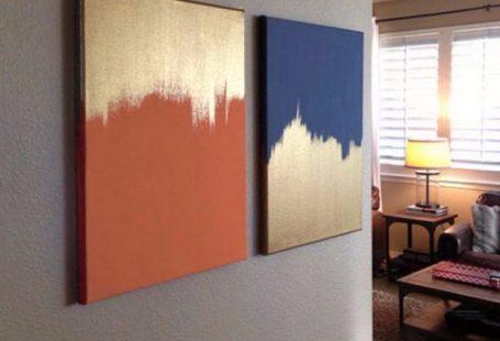 15 Super Easy DIY Leinwand Malerei Ideen für künstlerische Wohnkultur