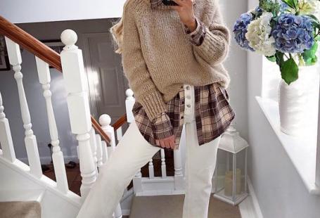 16 небанальных сочетаний рубашки и свитера на каждый день