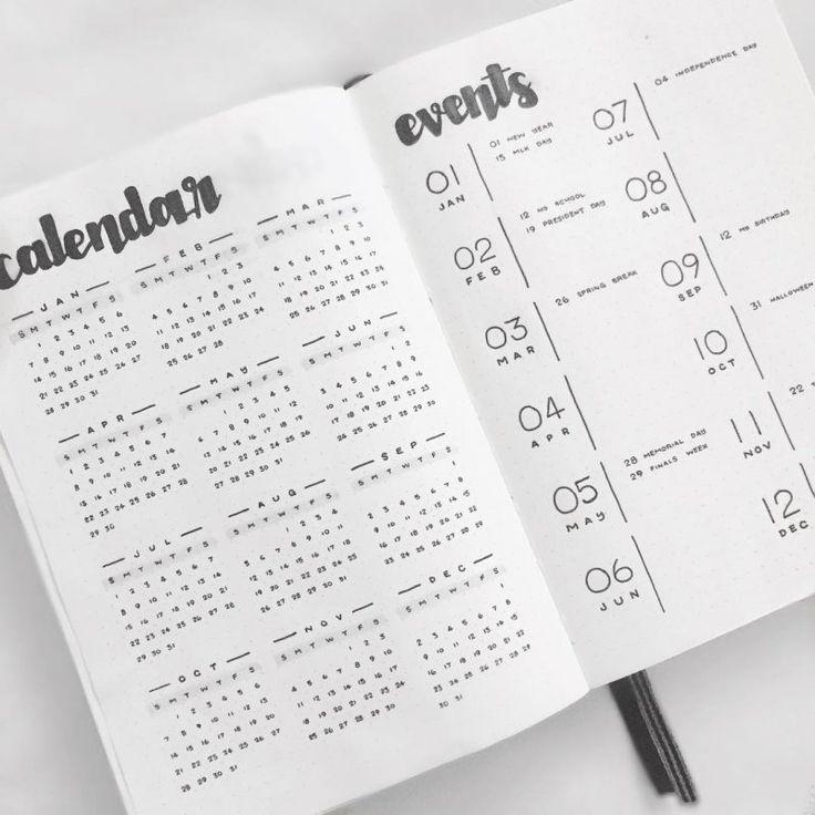 17 Minimalist Bullet Journal Spreads, die Sie jetzt ausprobieren müssen - Andres Valencia - #Andres #Ausprobieren #Bullet #die #jetzt