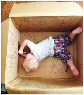 Set them lose inside a box - could even give washable markers if you