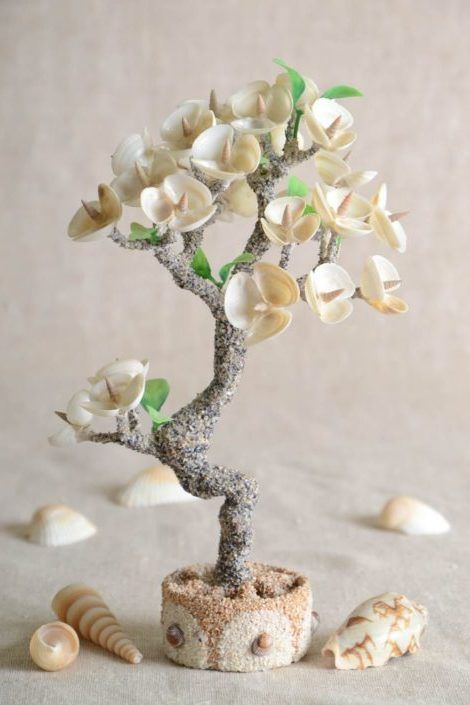 Beautiful and unforgettable crafts from seashells. #shells #crafts #creativity