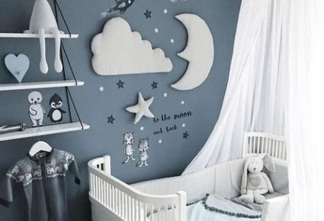 3pcs Nordic Style Moon Cloud Star Kids Room Decoration 3D Wall Decor - #3D #3pcs #cloud #décor #decoration