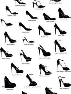 Guide to shoe styles.