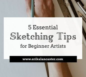 In this post, I share five useful sketching tips for beginner artists. How to sketch tips. Drawing for beginners.
