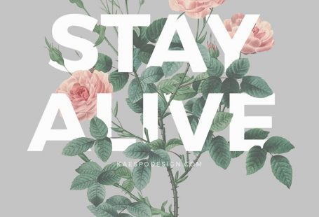 inspirational-iphone-7-wallpaper Stay Alive Typography Roses Illustration