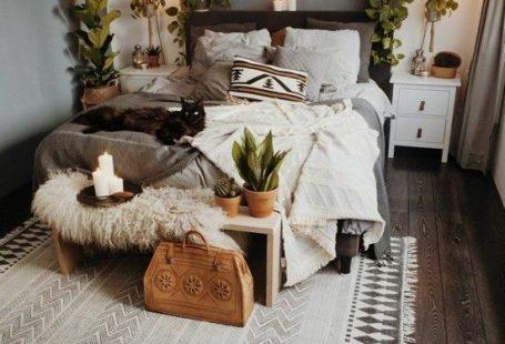 schlafzimmer einrichtungsideen boho scandi stil