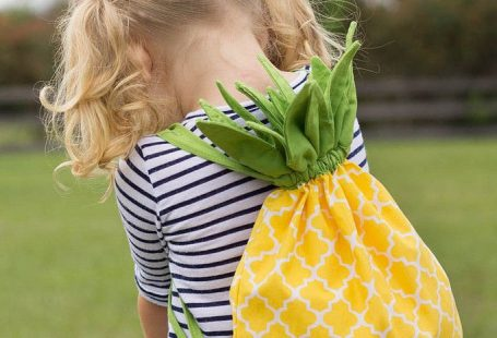 Find this pineapple backpack tutorial at Stitched by Crystal.