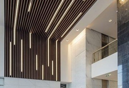 Nice Aesthetic False Ceiling Ideas Gracing Beautiful Decor of Modern Office Designs - Modern office designs showing artistic false ceiling decoration Image 45